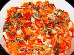 Salata de toamna (opintici, gogosari, ceapa, morcovi) – Culoare si Arome Vegetable Pizza, Cooking Recipes, Vegetables, Food, Canning, Fine Dining, Salads, Cooker Recipes, Chef Recipes