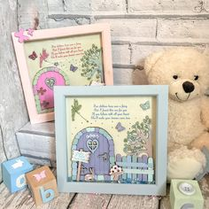 Personalised fairy garden frame Fairy house Fairy door Baby