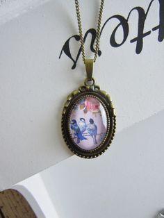 """Medaillonketten - Kette """"Shabby Chic Vogel"""" - ein Designerstück von Love-design bei DaWanda"""