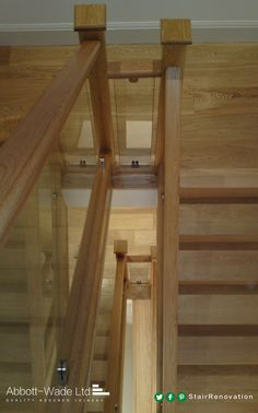 We're sure you would never tire of descending these beautiful oak stairs.