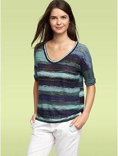 Roll-cuff space-dye sweater | Gap