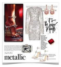 """""""s p a r k l e"""" by angelicallxx ❤ liked on Polyvore featuring Zuhair Murad, Judith Leiber, Anne Sisteron, Sanjay Kasliwal and metallicdress"""