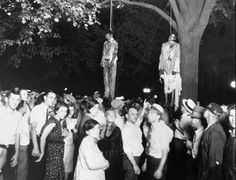 The Lynching of Thomas Shipp and Abram Smith (Indiana, 1930)...The carnival atmosphere of the event in this infamous photo has always haunted me.
