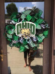 Ohio university deco mesh wreath  by ShelbyColemanCrafts on Etsy