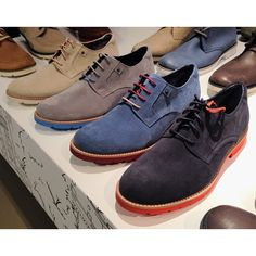 """Found on Instagram from @menshealthstyle, a sneak peak of our Spring 2014 Mens line!  """"These AREN'T your grandfather's Rockports. They're lightweight and add a pop of color without being too loud. #SS14"""""""