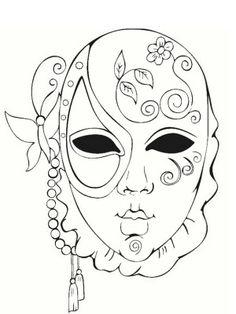 Mascara carnavales coloring printable masks pinterest - Masque de carnaval a imprimer ...