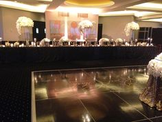 wedding in the waterford room of rivue at the galt house hotel in louisville kentucky