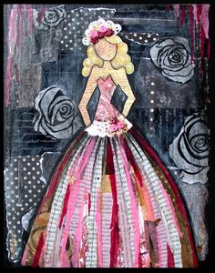 Ingrid Dijkers: Julie Nutting - Workshop Beautiful gal collage - not from one of the doll stamps