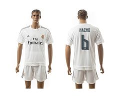 This is 2015-2016 Real Madrid 6# NACHO white jersey from http://www.jordanstationcn.ru/ We wholesale and retail many kinds of items,sports jerseys,Jordan shoes,Nike and adidas shoes,sunglasses,hanbags,also snapback hats,high quality and cheap price!welcome to http://www.jordanstationcn.ru/