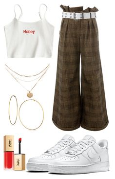 """""""$$"""" by puccci ❤ liked on Polyvore featuring Aganovich, Relic, NIKE, GUESS and Yves Saint Laurent"""