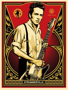 Coming April 15 from Shepard Fairey, JOE STRUMMERVILLE Poster. I'm tempted.