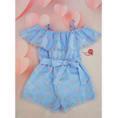Macaquinho Petit Cherie Azul Kids Baby Girl Fashion, Toddler Fashion, Kids Fashion, Womens Fashion, Outfits Niños, Kids Outfits, Sleeves Designs For Dresses, Hijab Outfit, My Princess