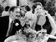 Groucho Marx and Margaret Dumont: Maybe not the most romantic Dynamic Duo in Classic Film — but certainly one of the funniest…