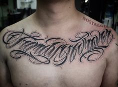 Tattoo Lettering Styles, Chicano Lettering, Tattoo Script, Tattoo Fonts, Tattoo Quotes, Body Art Tattoos, Hand Tattoos, Tattoo Letras, Praying Hands Tattoo
