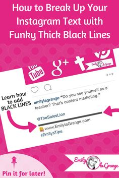 How to Break Up Your Instagram Text with Funky Thick Black Lines