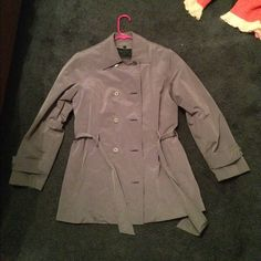 Express coat Maybe worn once. Perfect condition. Gray. Express Jackets & Coats Trench Coats