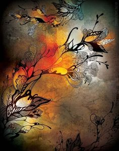 "ink and watercolor illustration (and digitally altered) by Iveta Abolina ""Before the Storm""... beautifully done"
