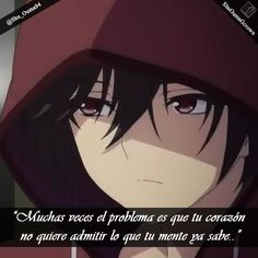 #Charlotte muchas veces el problema es que tu corazón  #Anime #Frases_anime #frases