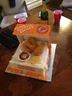 Popeyes Chicken Birthday Cake