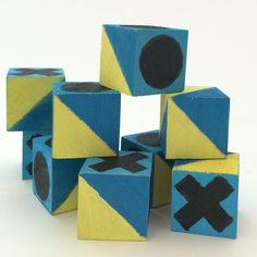 Wooden Blocks Kit via WahSoSimple! Diy Crafts Kits, Craft Kits, Wooden Blocks, Diy Painting, Unique Jewelry, Handmade Gifts, Inspire, Vintage, Etsy