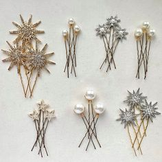 This set of 21 pretty hairpins are so versatile and perfect for many different dress styles. Part of the Starry Skies Collection, visit here to see more Pieces from the collection. Hair Jewelry, Wedding Jewelry, Wedding Hair Pins, Red Jewelry, Jewelry Box, Wedding Hair Accessories, Accessories Jewellery, Different Dress Styles, Celestial Wedding