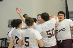 2013 Basketball Tournament. Cecil County celebrates after a buzzer beating 3 point shot.