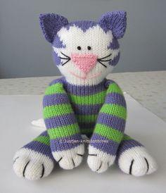 Not Crochet, but oh so cute! Justjen-knits: Share Kitty - Knitted Cat Pattern