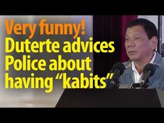 """Very funny: Duterte gives realistic advice to Policemen with """"Kabits"""" ~Share - WATCH VIDEO HERE -> http://dutertenewstoday.com/very-funny-duterte-gives-realistic-advice-to-policemen-with-kabits-share/   News video courtesy of The Storyteller YouTube channel  Disclaimer: The views and opinions expressed in this video are those of the YouTube Channel owners and do not necessarily reflect the opinion or position of the site owners/FB admins."""