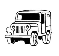 Jeep Off Road Car Coloring Page