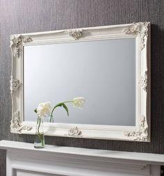 Abbey Rectangular Over Mantle Mirror Cream 44x32 Inches