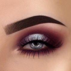 Brown Eyeshadow Looks, Blue Eyeshadow Looks, Smokey Eye For Brown Eyes, Red Makeup Looks, Purple Eye Makeup, Cut Crease Eyeshadow, Eyeshadow Makeup, Applying Eyeshadow, Smoky Eyeshadow
