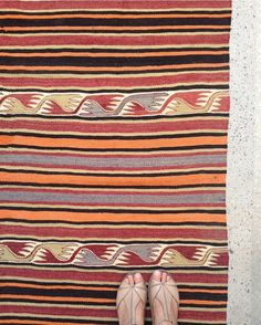 Got to love a good vintage Turkish kilim. I may have a few available. #stripes #kilim #uniqueinteriors