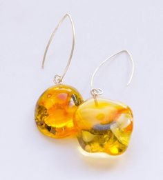 Earrings, Amber earrings,  orange, transparent, sun, sterling Silver 925,genuine amberstone,gift for she, giftbox,NEW, UNIQUE- Handmade by JewellerWithSoul on Etsy