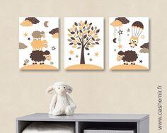 Affiche poster Lot de 3 illustrations pour chambre d\'enfant garçon ...