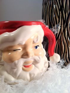 Vintage Ceramic Santa Mug by modclay on Etsy, $14.00