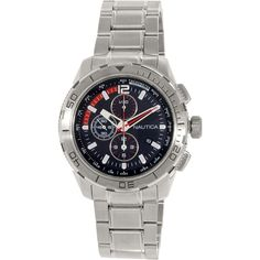 Nautica Men's Nst N22636G Silver Stainless-Steel Quartz Watch