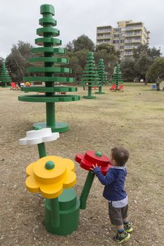 Super cute LEGO playground.