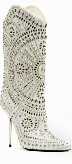 Versace studded boots #Shoes #Versace