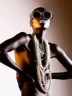 Mercura NYC pearl & spike sunglasses