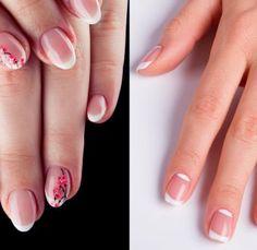 Unhas para madrinha de casamento: francesinha com nail art meia-lua ou com decoração florida? Vote na sua preferida!