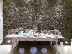 Wish table decoration. Wedding Themes, Wedding Decorations, Table Decorations, Wedding Abroad, Santorini Wedding, Ciel, Weddings, Mariage, Wedding