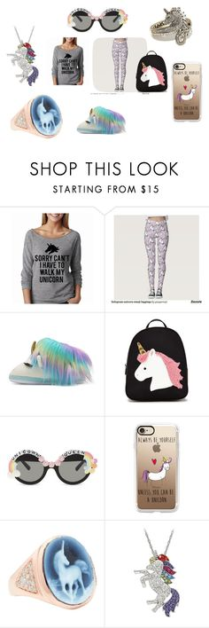 """""""Im a believer"""" by taco-lambert ❤ liked on Polyvore featuring Forever 21, Rad+Refined, Casetify, Jacquie Aiche and Heidi Daus"""