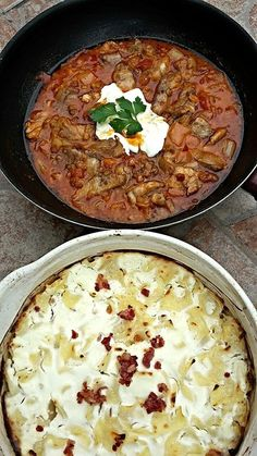 Harcsapaprikás túrós csuszával Hungarian Recipes, Curry, Food And Drink, Cooking Recipes, Yummy Food, Sweets, Ethnic Recipes, Bacon, Education