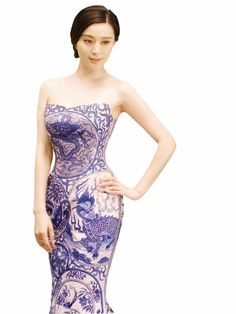Chinese actress and fashion icon, Fan Bing Bing.  God, I love that dress. <3