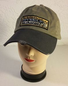 "UP Urban Pipeline Baseball Cap Hat Grey Green ""Decided To Put Myself In Charge"" #UrbanUp #BaseballCap"