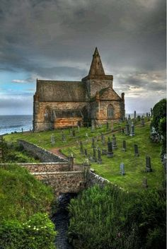 St. Monans church and cemetery, East Neuk, Fife, Scotland