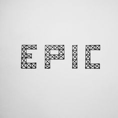 Type. Hand lettering.
