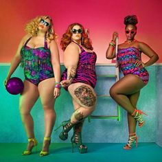 The new swim collection @monifcplussizes with Tess Holliday