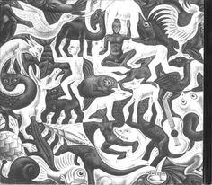 Mosaic, by MC Escher (Dutch, Lithograph Mc Escher, Escher Kunst, Escher Art, Escher Drawings, Art And Illustration, Op Art, Illusion Kunst, Illusion Art, Art Optical