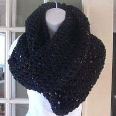 Black with flecks infinity cowl scarf by MatsonDesignStudio, $24.00